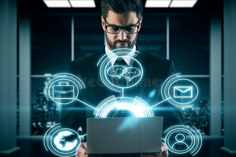 Innovatives Technologiekonzept lizenzfreie stockfotos
