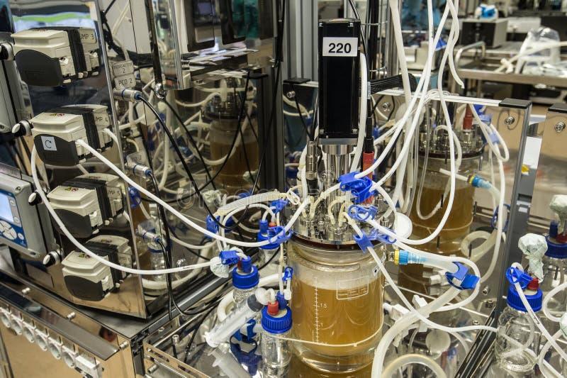 Innovativt laboratorium av den av världsklass biotekniken för forskning royaltyfri bild