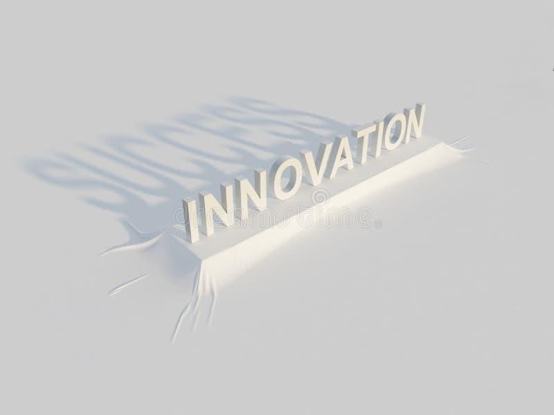 Innovazione = successo illustrazione di stock