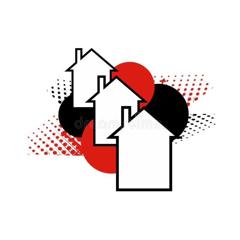 Download Innowaci sąsiedztwo ilustracja wektor. Obraz złożonej z ulica - 21811799