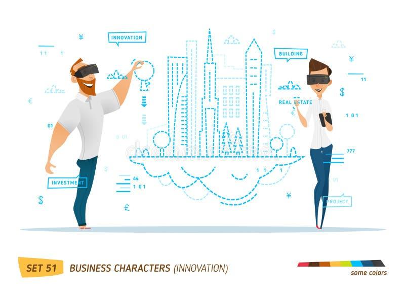 Innowacja biznesu styl ilustracji