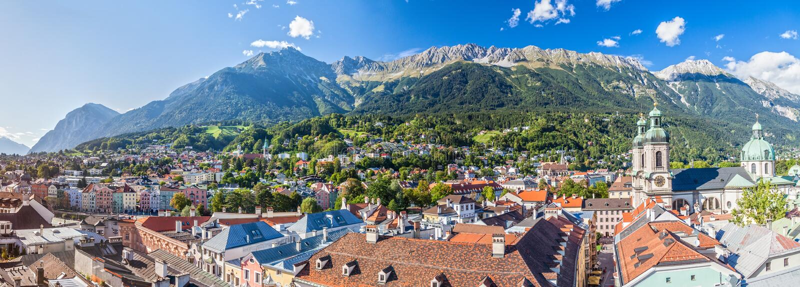 Innsbruck lizenzfreies stockfoto