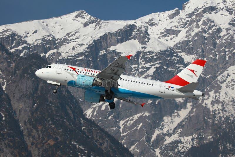 Austrian Airlines Aerobus A319 zdjęcie stock