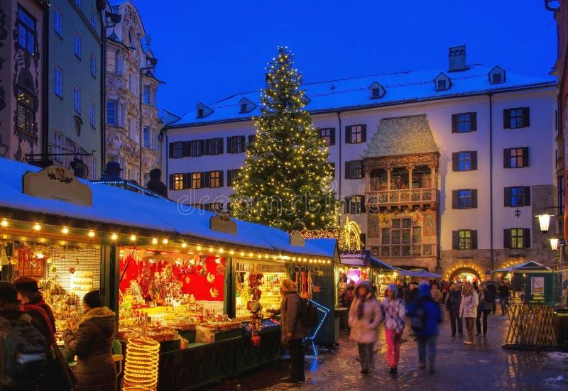 Innsbruck bożych narodzeń rynek fotografia stock