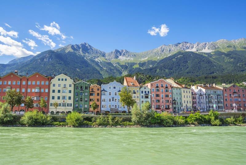 Innsbruck, capital de Tirol, Áustria imagens de stock royalty free