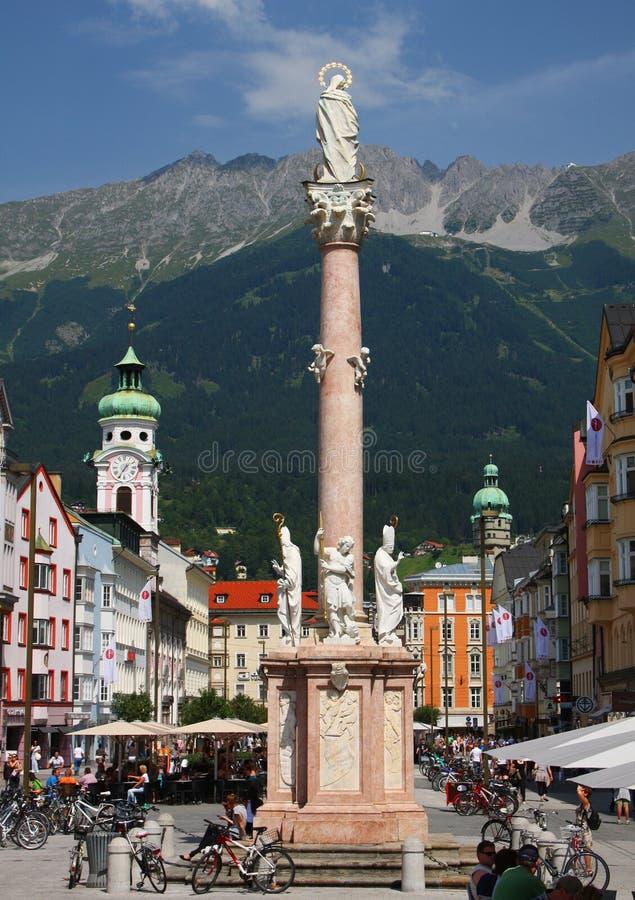 Innsbruck en Austria foto de archivo