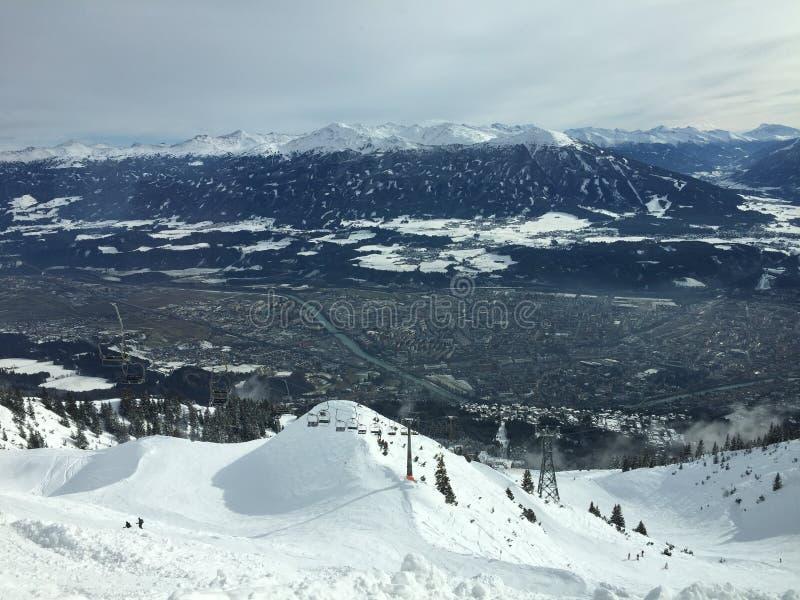 Innsbruck - Skiland - Landschap stock afbeeldingen