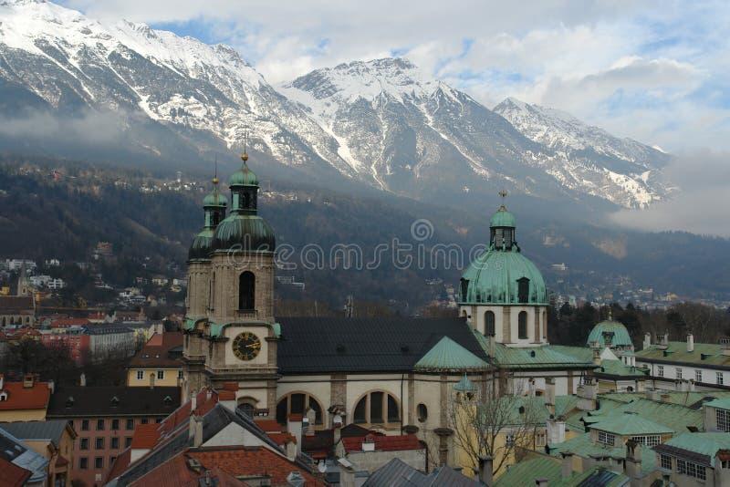 Innsbruck-Stadt stockbild