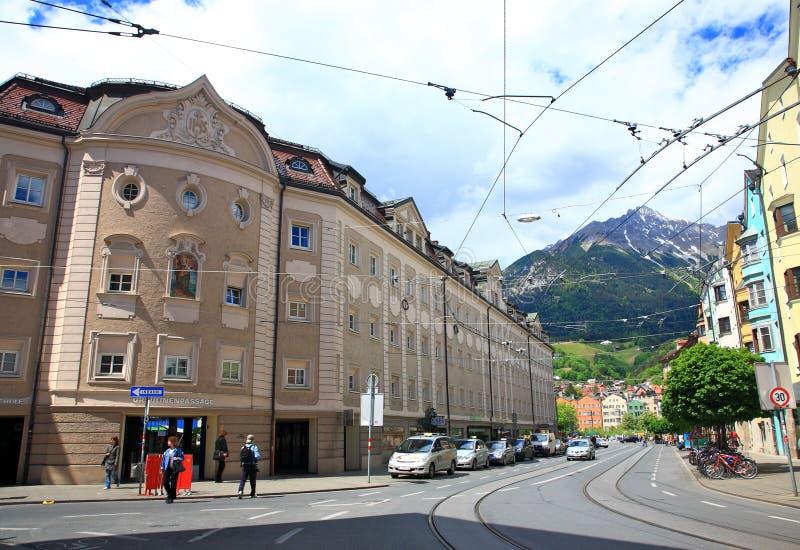 Download Innsbruck Street, Austria Editorial Image - Image: 15110115