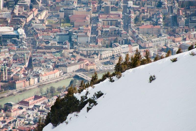 Innsbruck viu de cima de foto de stock
