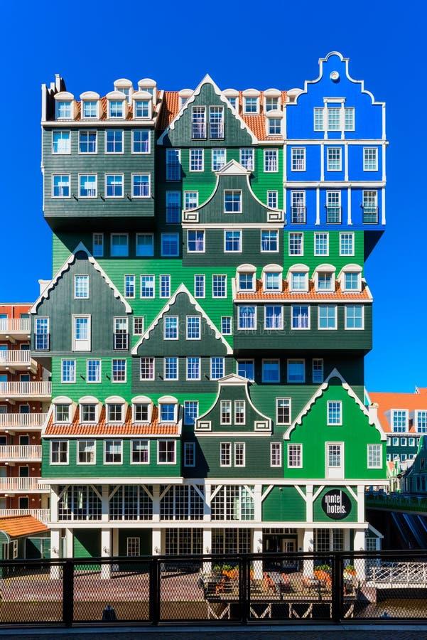 Inntelhotel in Zaandam Nederland stock afbeelding