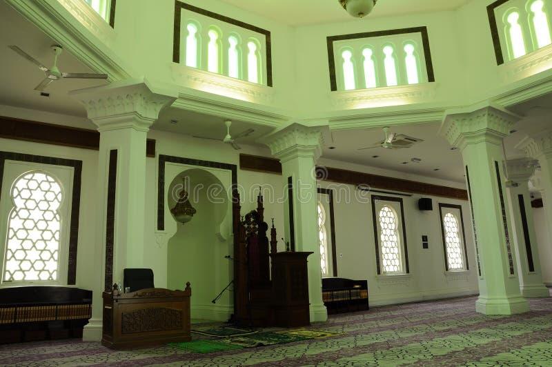 Innterior Kuala Lumpur Jamek meczet w Malezja obraz stock