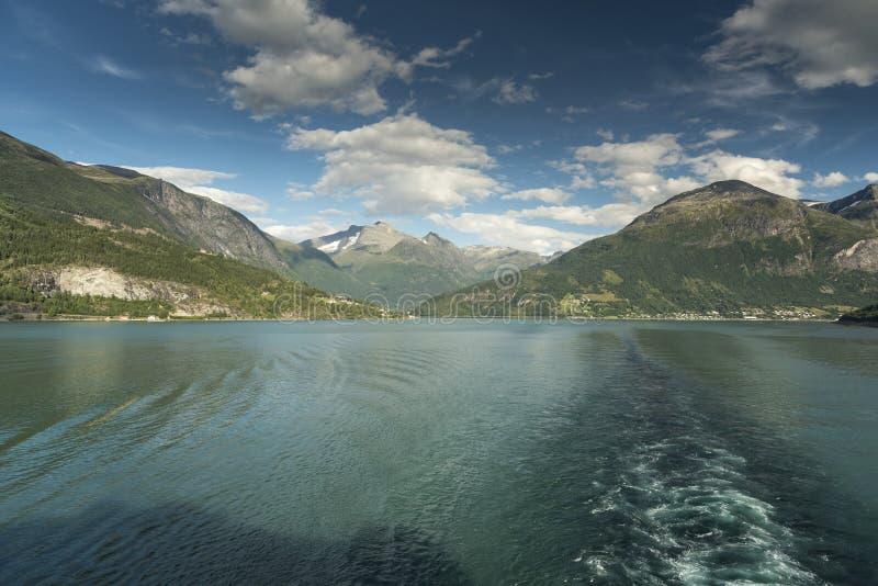 Innvikfjord van Azura stock afbeelding
