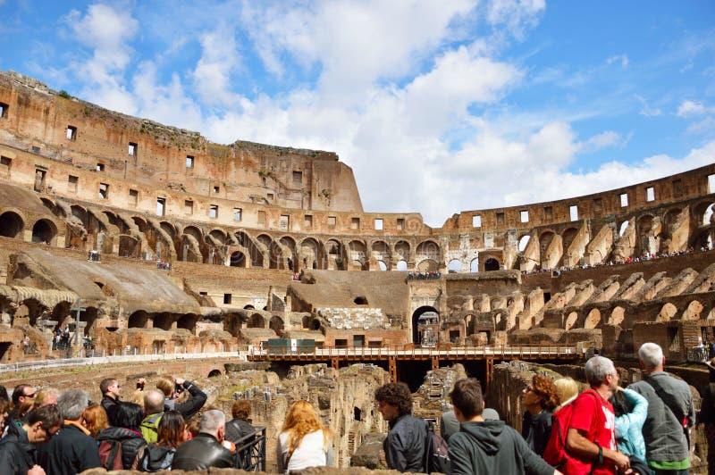 Inom av Colosseumen Rome, Italien arkivbild