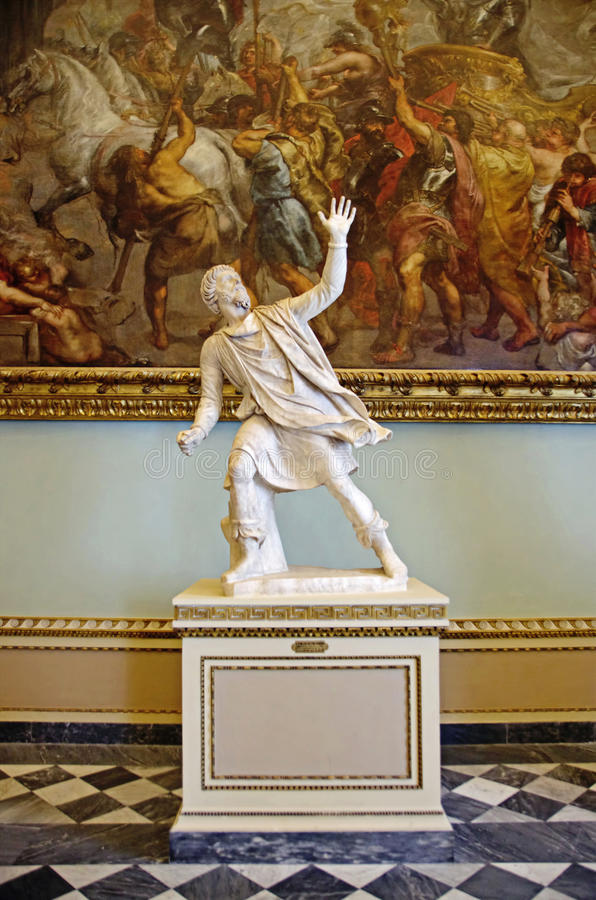 Inom av det Uffizi gallerit Florence, Italien royaltyfria foton