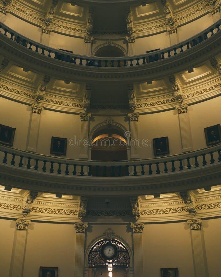 Inom byggnaden för Texas tillståndscapitol arkivbild