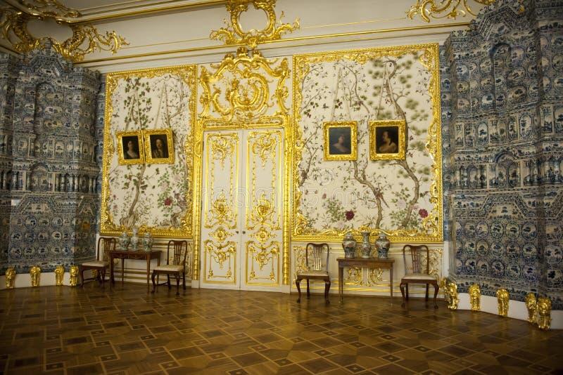 Inom Catherine Palace St Petersburg royaltyfria foton