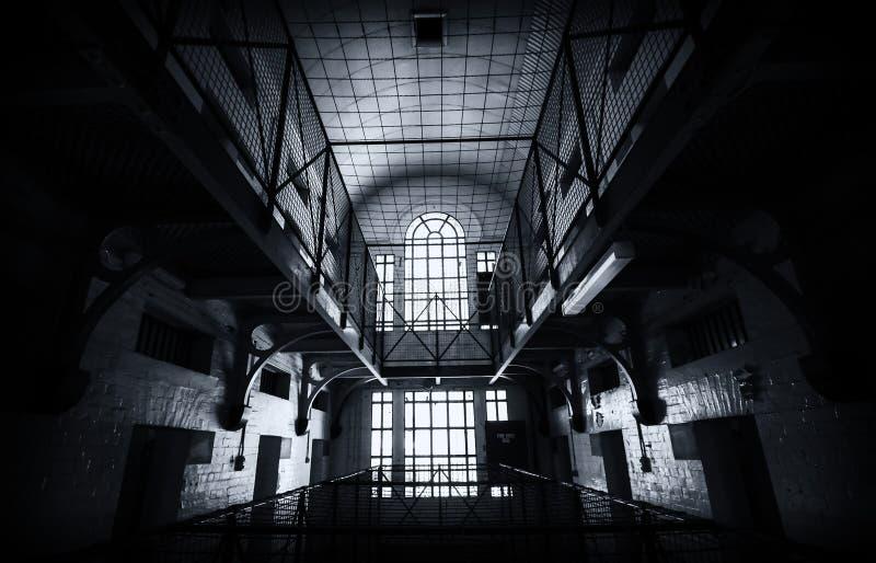 Inom ett fängelse royaltyfri bild
