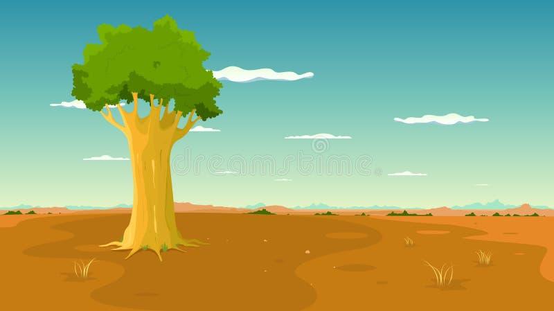 inom liggandeplaintree wide royaltyfri illustrationer