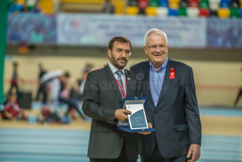 Inomhus koppmästerskap i Istanbul - Turkiet royaltyfria foton