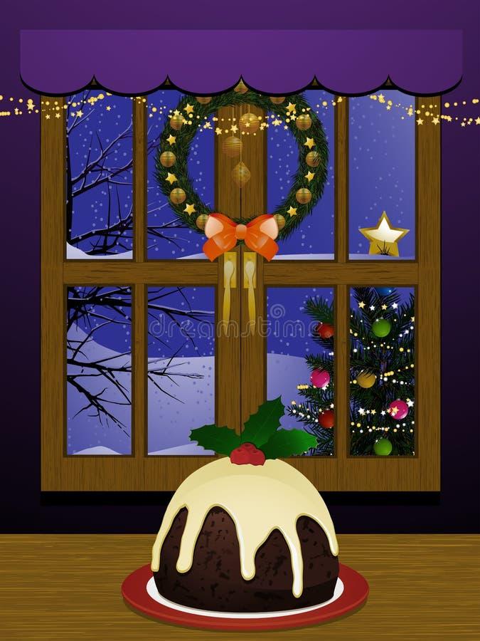 inomhus plats för jul royaltyfri illustrationer