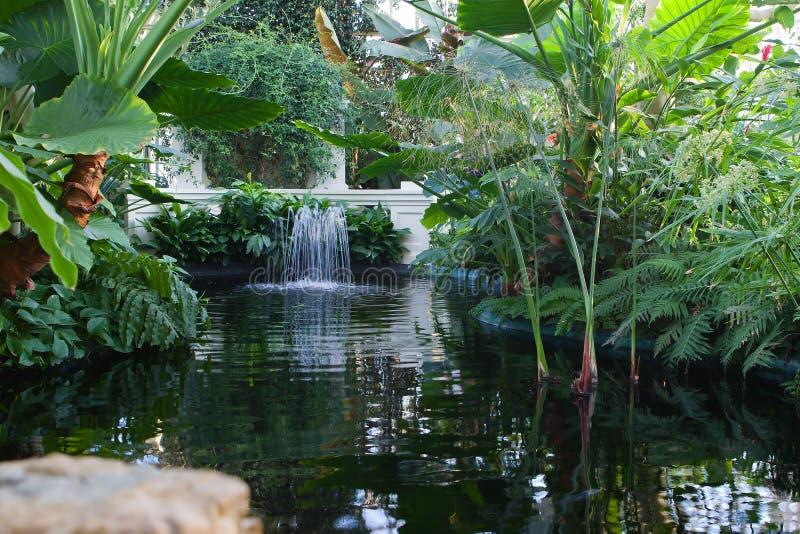 inomhus vatten för springbrunn arkivfoto