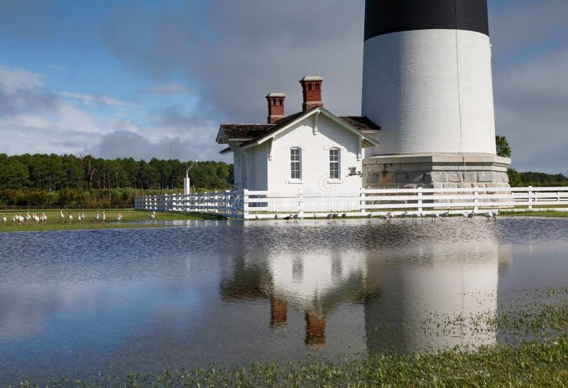 Inondation chez Bodie Island Lighthouse North Carolina image stock