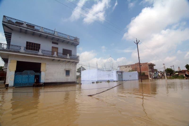 Inondation dans l'Inde photographie stock libre de droits