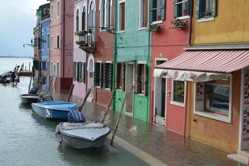 Inondation dans Murano image libre de droits
