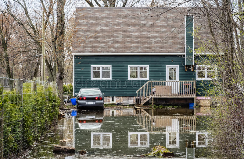 Inondation de Chambre images libres de droits