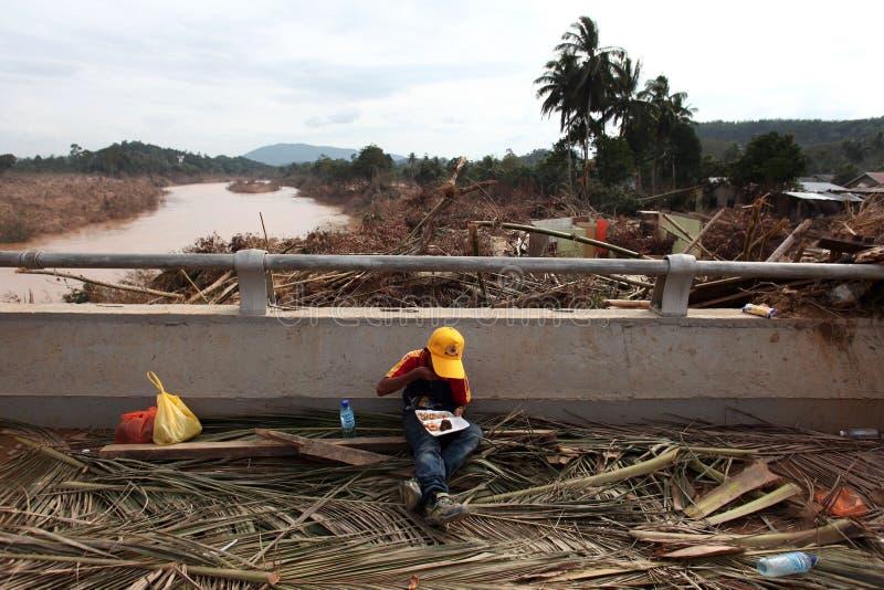 Inondation de conséquence photo libre de droits