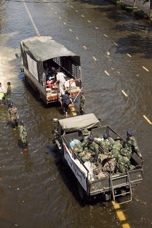 Inondation de la Thaïlande photo libre de droits