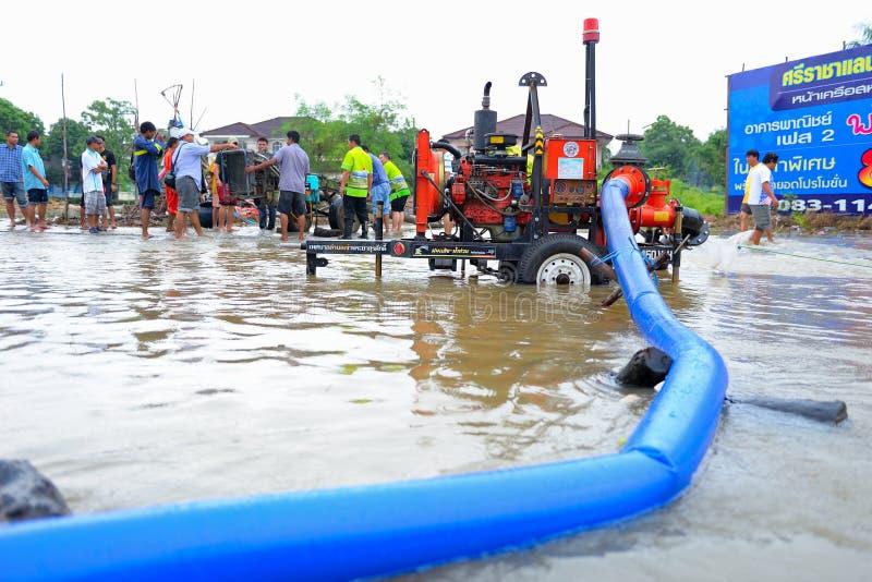 Inondation en Thaïlande photographie stock libre de droits