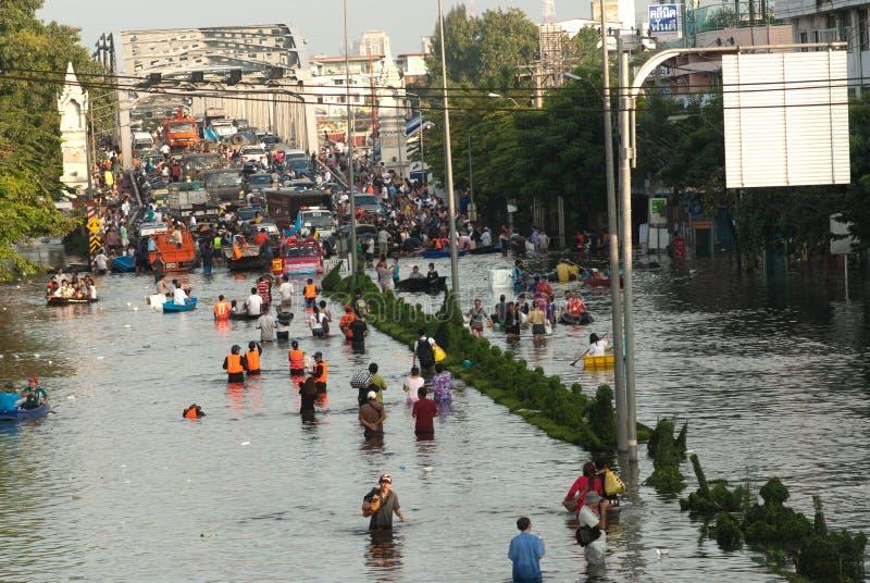 Inondation méga en Thaïlande 2011. photo libre de droits