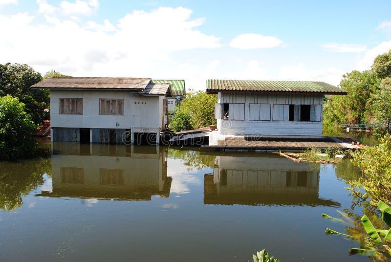Inondation thaïe photographie stock libre de droits