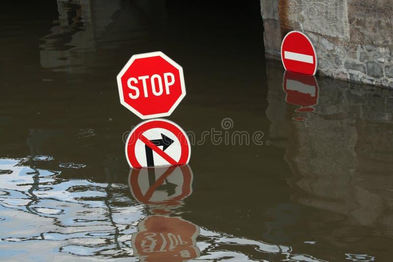 Inondations dans Usti NAD Labem, République Tchèque image libre de droits