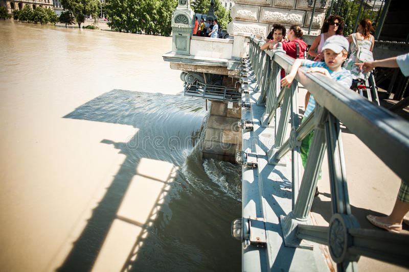Inondations de Budapest photo stock