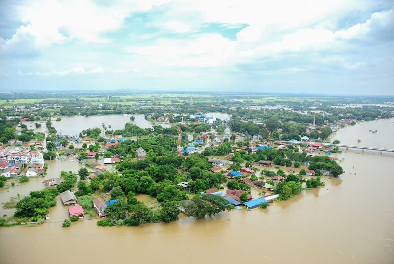 Inondations de la Thaïlande, catastrophe naturelle photographie stock libre de droits