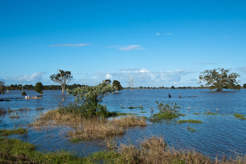 Inondations de Taree image stock