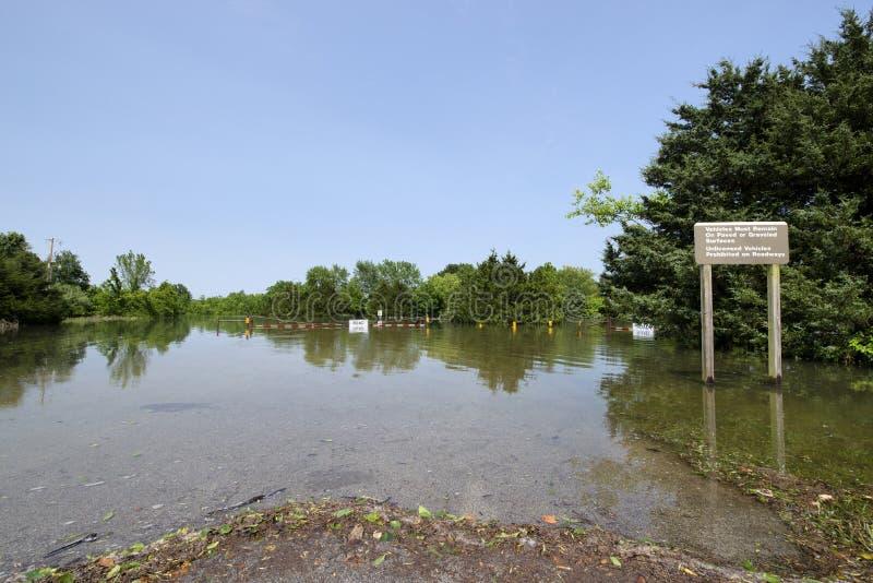 Inondazione del lago Truman immagine stock libera da diritti