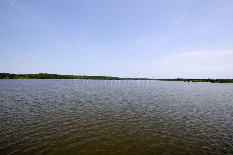 Inondazione del lago Truman immagini stock