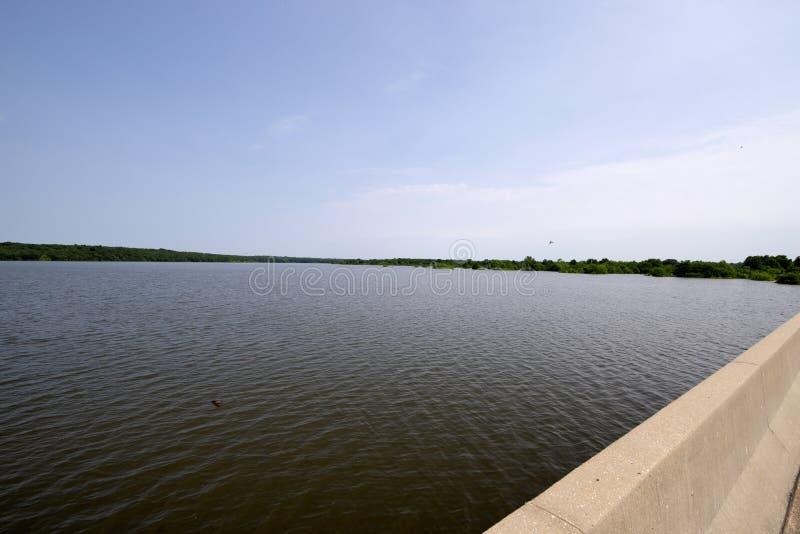 Inondazione del lago Truman fotografia stock