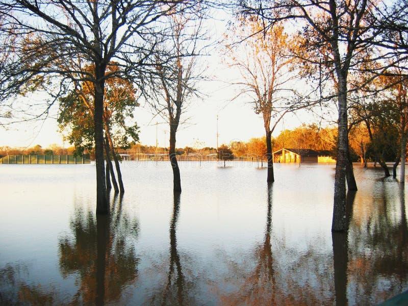 Inondazione dell'acqua immagini stock
