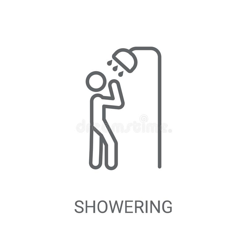 Inondazione dell'icona Concetto d'inondazione d'avanguardia di logo su backgroun bianco royalty illustrazione gratis