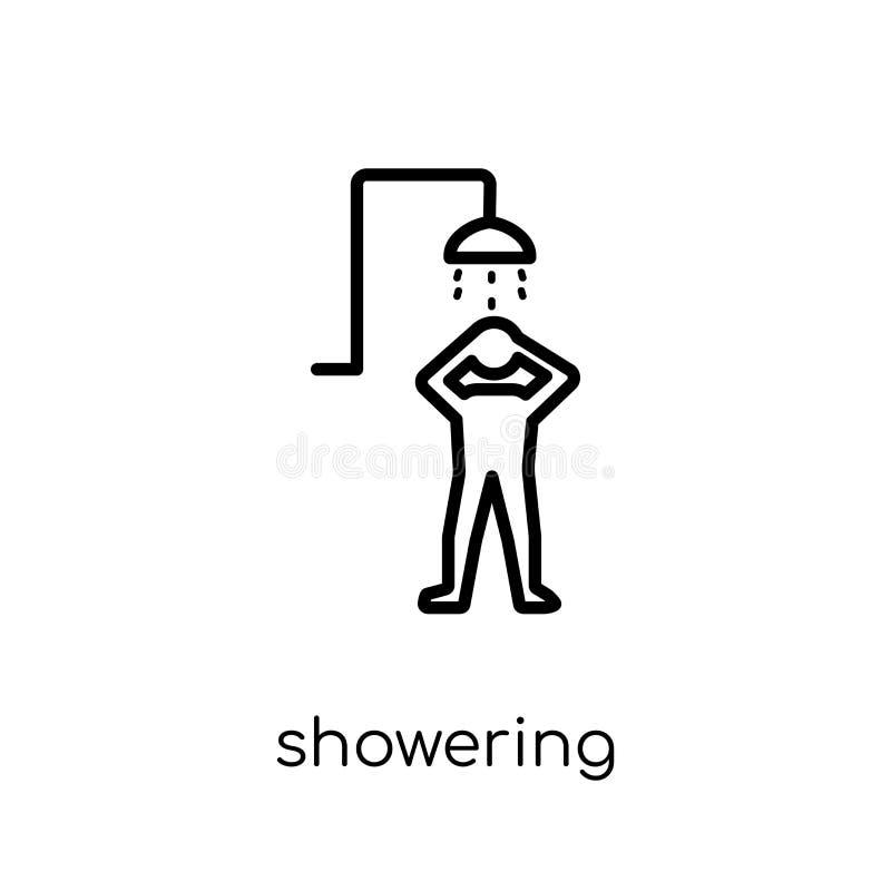Inondazione dell'icona Vettore lineare piano moderno d'avanguardia che inonda icona illustrazione di stock