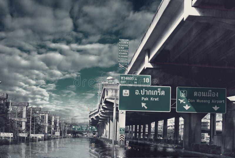 Inondazione della Tailandia 2010 immagine stock