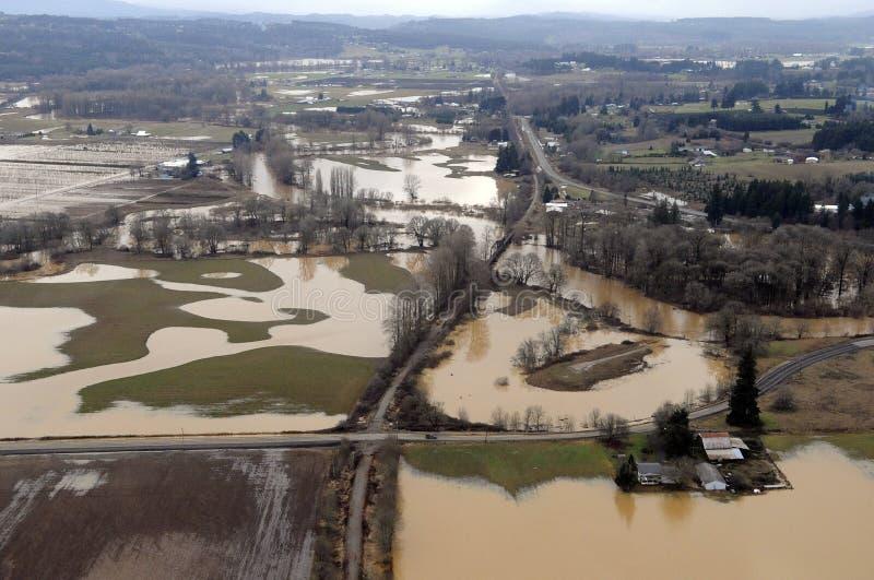 Inondazione dello Stato del Washington immagini stock libere da diritti