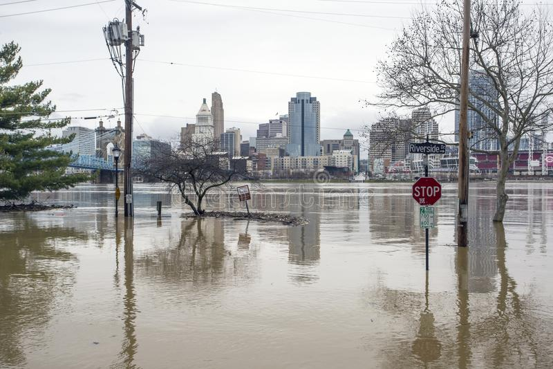 Inondazione 2018 di Cincinnati fotografia stock