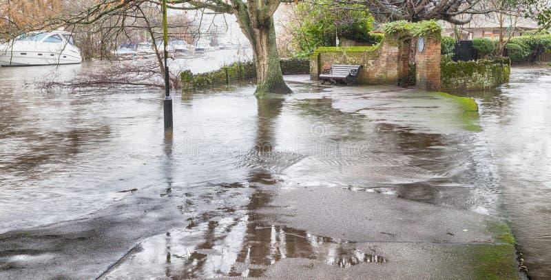 Inondazione 2014 di maggiore di Avon del fiume immagine stock libera da diritti