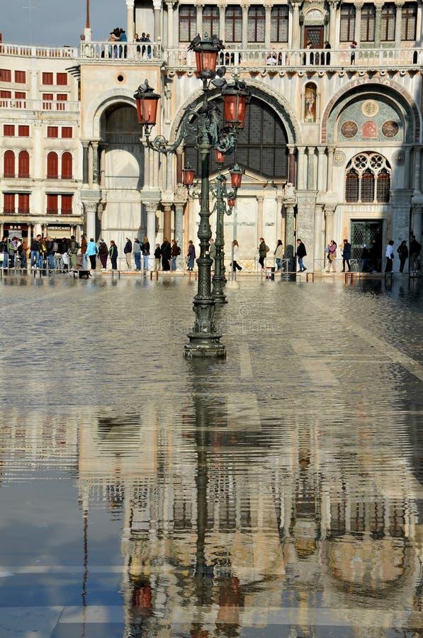 Inondazione di Venezia immagine stock